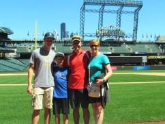 Family on Safeco Field