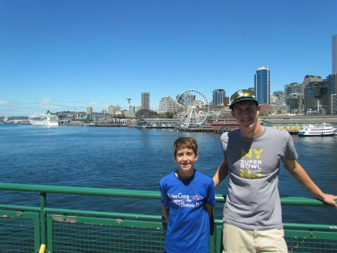 Me and Joe with Seattle in background