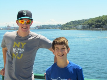 Me and Joe on the ferry