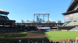 View from right field side