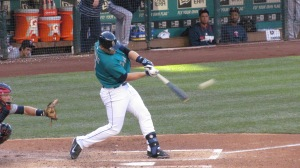 Mike Zunino connects on a solo home run in the second inning