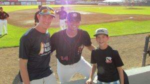 Me and Joe with Ryan McBroom at the game