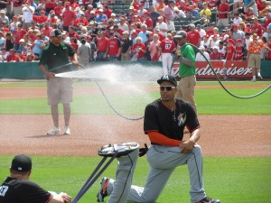 Giancarlo Stanton at Roger Dean Stadium in Jupiter, FL