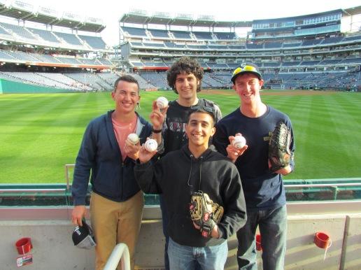 Andre, Ben, Jack, and me at Nationals Park
