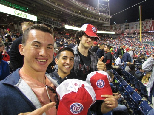 Andre, Jack, and Ben with free hats