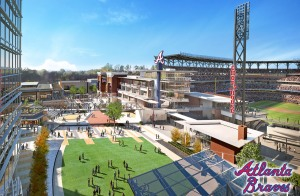 SunTrust Park outfield development