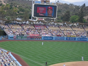 Left field at Dodger Stadium