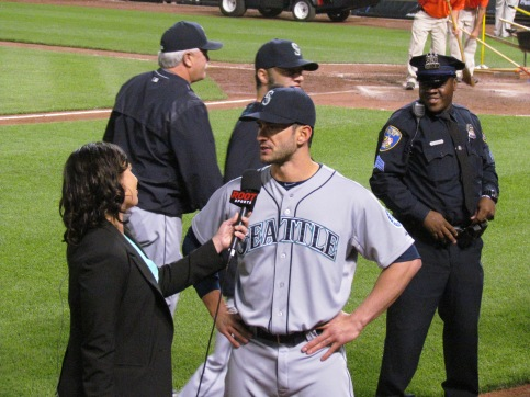 Justin Ruggiano interviews postgame