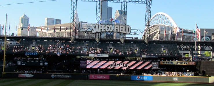 Safeco Field long image of left field