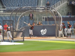Ichiro bats during BP at Nationals Park