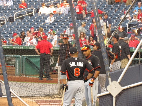 The Solano brothers at the chatting cage