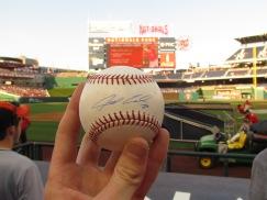 Baseball signed by Jarred Cosart