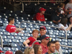 My mom and dad in our section