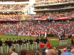 Marlins and Nationals post National Anthem