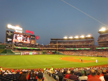 Nationals Park in the twilight sky