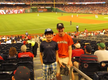 Me and Joe during Marlins-Nats 5.4.15