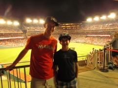 Joe and me in deep center field