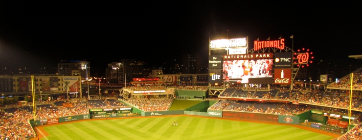 Nationals Park night sky