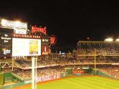 Moon rises over Nationals Park