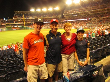 Me with my family (minus Charlie) at Nationals Park