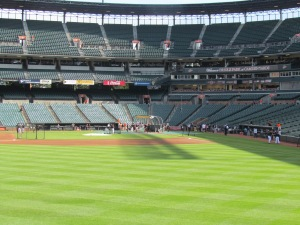 Orioles BP at Camden Yards