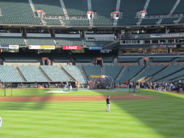 Orioles BP at Oriole Park