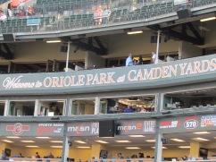 Press box at Oriole Park