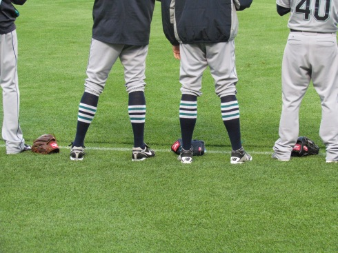 The Mariners have really cool socks