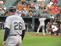 Ricky Weeks batting with third base coach Donnelly
