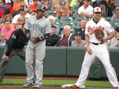Robinson Cano and Chris Davis at first base