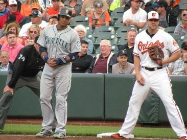 Robinson Cano and Chris Davis at first base