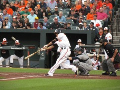 Manny Machado swinging