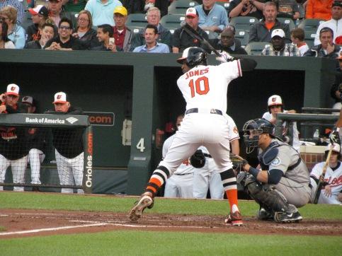 Adam Jones batting