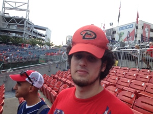 Ben, not too amused with the Diamondbacks hat