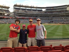 Ben, Jack, me and Paul at Nationals Park 2015