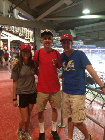 Sarah, Paul, and Steve at Nationals Park