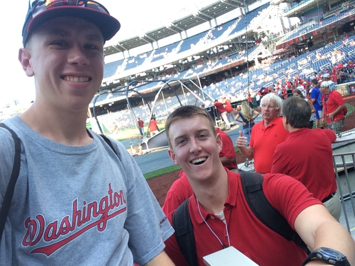 Me and Paul at Nats Park BP