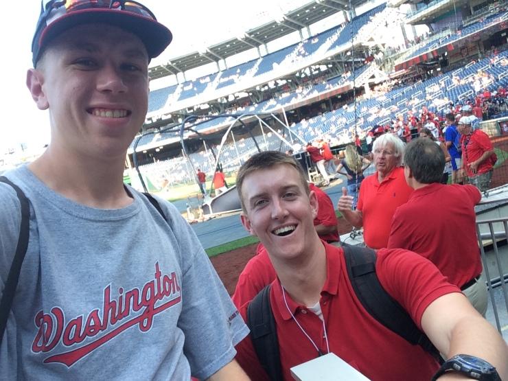Me and Paul at Nats Park BP