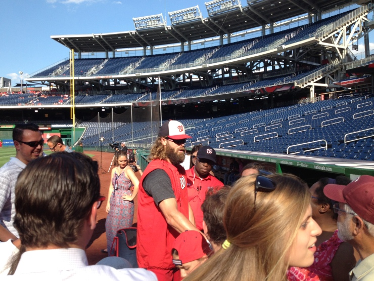 Jayson Werth with fans