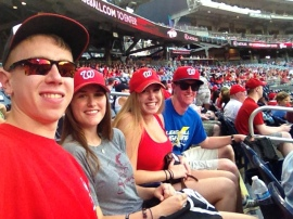 Paul, Sarah, Rachel, me at Nats Park