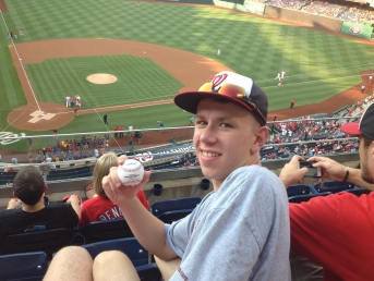 Paul with his Desmond HR ball