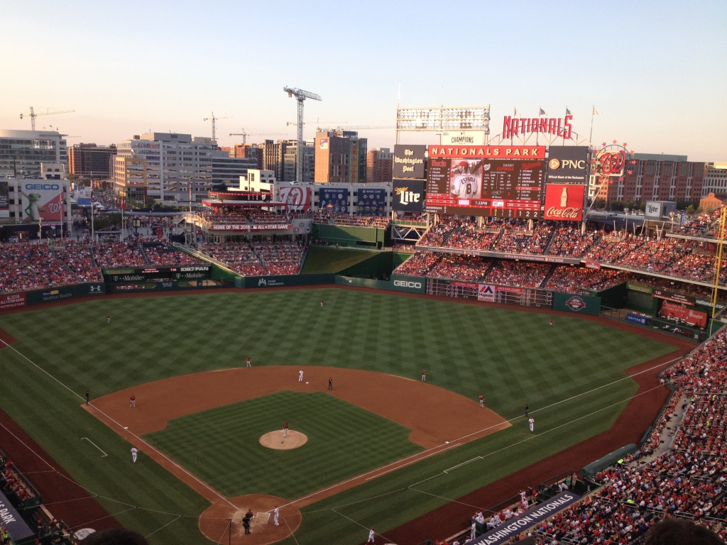 View of Nats Park from the press box