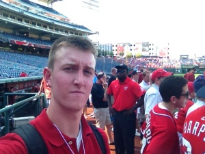 Me on field at Nats Park