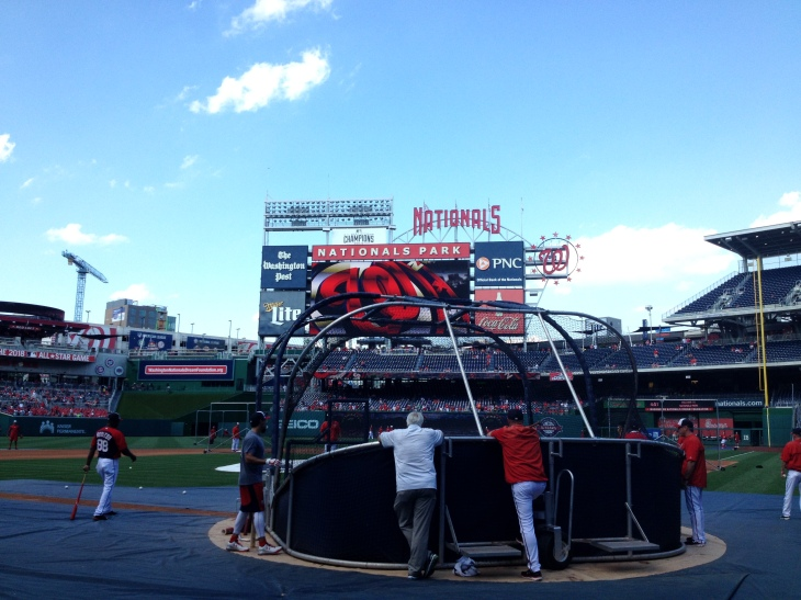 Nats BP from behind home plate