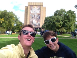 Me and Joe with Touchdown Jesus