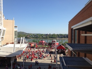 Fan zone at Great American Ball Park
