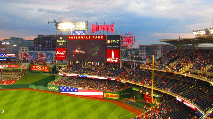 Right field at Nats Park 5.23.16