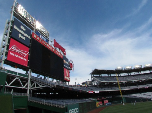 Nats Park jumbotron during BP