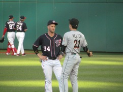 Yelich and Harper talking pregame