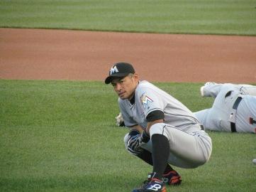 Ichiro stretching